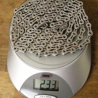 Gewicht KMC Chain Kette X 10 SL Silber 106 Glieder, 10-fach