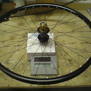 """Gewicht Hope Systemlaufräder Hope Pro 2 Evo + Pacenti TL28  26"""", HR, 135mm/12mm"""