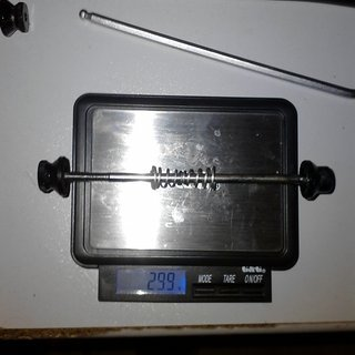Gewicht Fuxon Spannachse CrMo-Spannachse 100mm