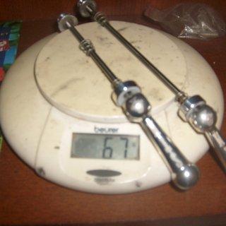 Gewicht STM Schnellspanner Titan