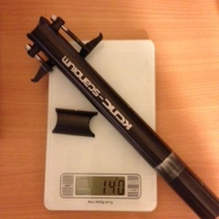 Gewicht KCNC Sattelstütze Ti Pro Lite Scandium 30,9 x 300mm