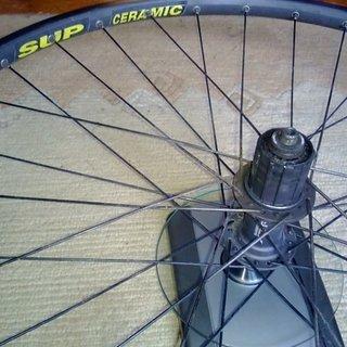"""Gewicht Shimano Systemlaufräder XTR HB-M950 + Mavic X517 SUP Ceramic 26"""", HR: 135mm/QR"""