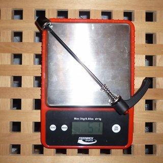 Gewicht DT Swiss Schnellspanner RWS MTB Steel 135mm