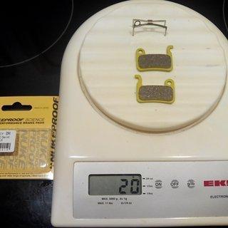 Gewicht Nukeproof Bremsbelag Science DH Shimano XTR/XT/SAINT