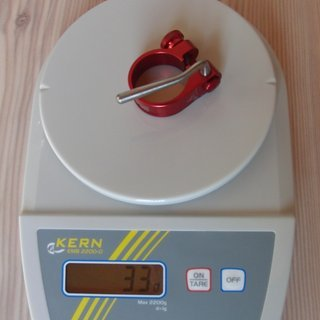 Gewicht Tune Sattelklemme Würger (QR) 31,8mm