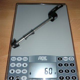 Gewicht Shimano Schnellspanner XT 785er-Serie 100mm