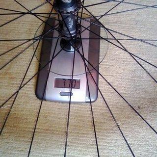 "Gewicht Shimano Systemlaufräder XTR FH-M950 + Mavic X517 SUP Ceramic 26"", VR: 100mm/QR"