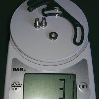 Gewicht 77designz Kettenführung freesolo ISCG 05