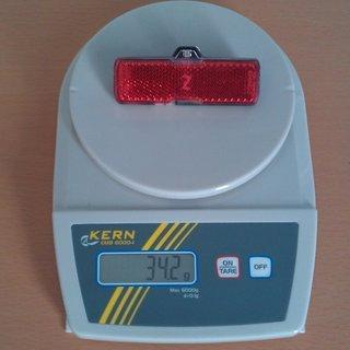 Gewicht Busch und Müller Beleuchtung TOPLIGHT Mini plus L95/B38/T17mm