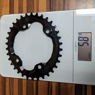 Gewicht absoluteBlack Kettenblatt Shimano M8000 34 T Oval  96