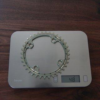Gewicht Renthal Kettenblatt SR4 104mm, 36Z