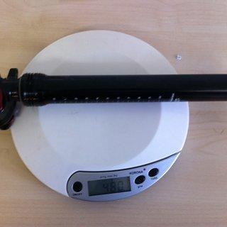 Gewicht Specialized Sattelstütze höhenverstellbar Command Post Blacklite 30,9 x 425mm