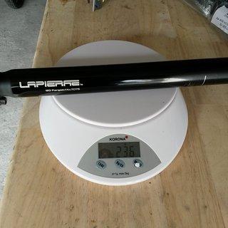 Gewicht Lapierre Sattelstütze XC Pro  31.6 x 350mm