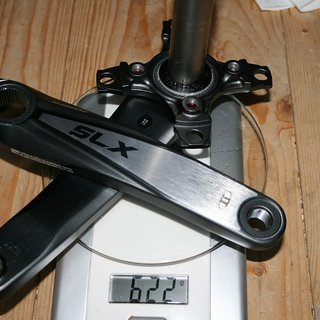 Gewicht Shimano Kurbel SLX FC-M665 175mm, 68/73mm, HTII