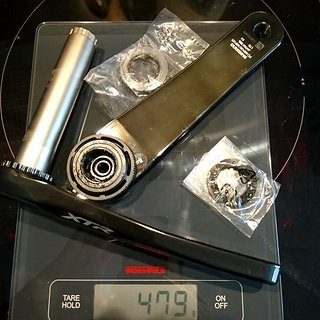 Gewicht Shimano Kurbel XTR FC-M9120-1 170mm