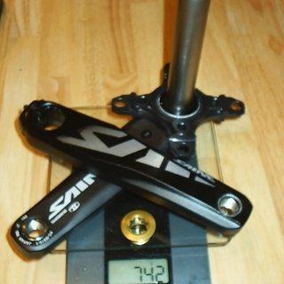 Gewicht Shimano Kurbel Saint FC-M815 165mm, 83mm