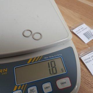 Gewicht Hope Weiteres/Unsortiertes Crank Arm Pedal Wascher Pedalunterlegscheibe