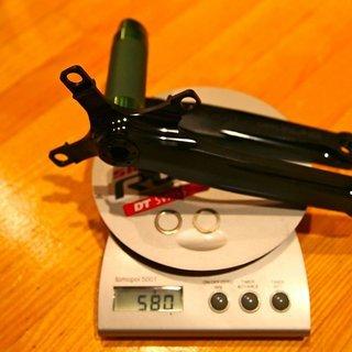 Gewicht e-thirteen Kurbel XCX+ Single Speed 175mm, 68/73mm