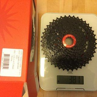 Gewicht Sunrace Kassette CSMX3 10-fach, 11-40Z