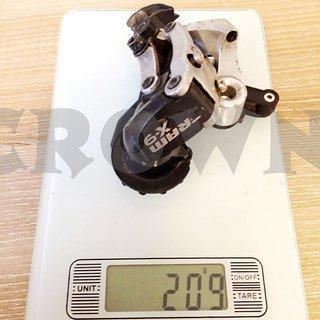 Gewicht SRAM Schaltwerk X9 Short Cage