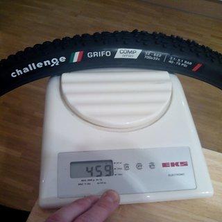 Gewicht Challenge Reifen Grifo Comp 700-32C, 32-622