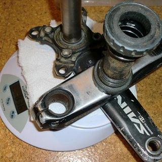 Gewicht Shimano Kurbel Saint FC-M815 175mm, 83mm