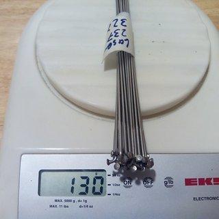 Gewicht Sapim Speiche Laser 237mm, 32 Stück