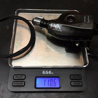 Gewicht SRAM Schalthebel XX1
