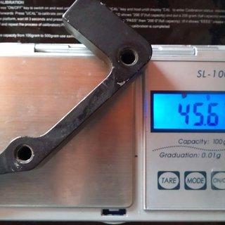 Gewicht Hayes Scheibenbremsadapter 888 Standard  IS >>> PM +43