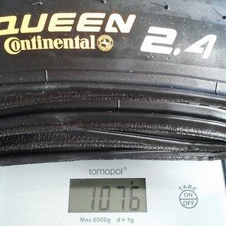 """Gewicht Continental Reifen Rubber Queen UST 26x2.4"""", 60-559"""