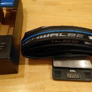 """Gewicht Schwalbe Reifen One Evolution 28x0.9"""", 23-622"""