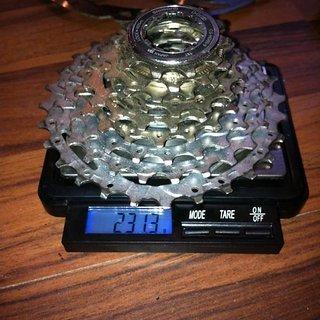 Gewicht Shimano Kassette SLX/LX CS-HG80 9-fach, 11-28Z