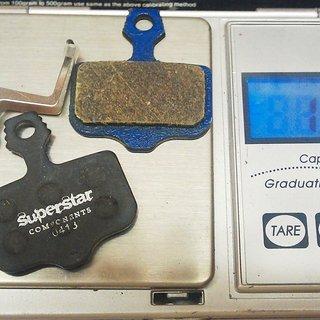 Gewicht Superstar Components Bremsbelag A1 Organic Avid Elixir All
