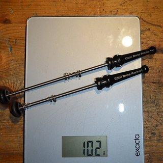 Gewicht CQP Schnellspanner Cook Bros Racing SS 100/135