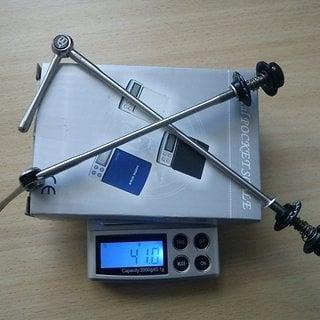 Gewicht Procraft Schnellspanner Pro SL 100mm, 135mm
