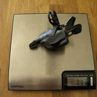 Gewicht SRAM Schalthebel X9 Trigger 3-fach