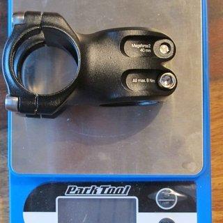 Gewicht Syntace Vorbau Megaforce 2 31.8mm, 40mm, 6°