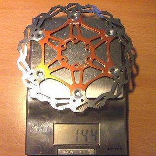Gewicht Clarks Bremsscheibe Floating Rotor 180mm