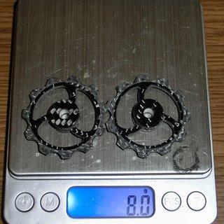 Gewicht Fibre-Lyte Schaltröllchen TRI BLADE 11 z