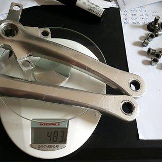 Gewicht Shimano Kurbel XT FC-M737 175mm, 4-kant