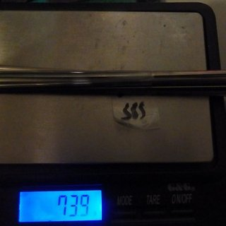 Gewicht Sapim Speiche CX Ray 282mm, 16 Stück