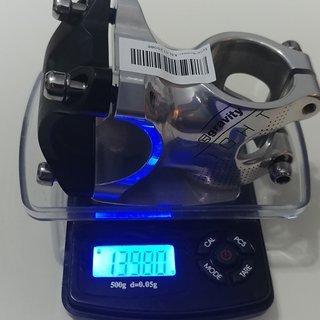 Gewicht FSA Vorbau Gravity Light 1 1/8zoll 31,8 Klemmung 6° 45mm lang