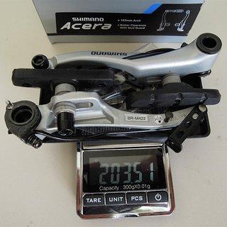 Gewicht Shimano Felgenbremse Acera BR-M422 107mm