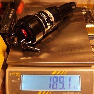 Gewicht DT Swiss Dämpfer X 313 ODL 190 x 50 mm
