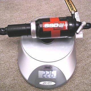 Gewicht DT Swiss Dämpfer SSD 210 L 190 x 50mm