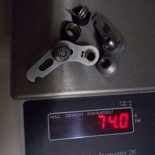 Gewicht FRM Felgenbremse ciclio x