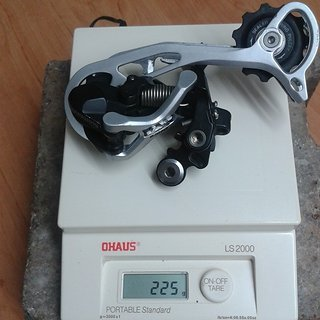 Gewicht Shimano Schaltwerk XT RD-M772 SGS Long Cage