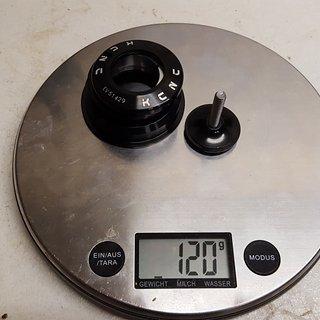 Gewicht KCNC Steuersatz KCNC KHS F13 ZS44/28,6 - ZS56/40