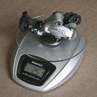 Gewicht Shimano Schaltwerk XT RD-M750 GS Short Cage