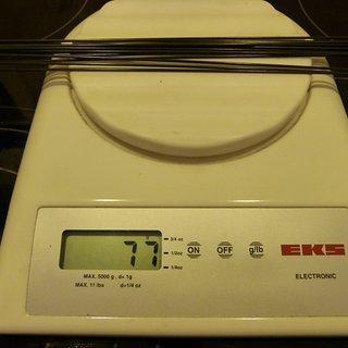Gewicht Sapim Speiche Laser 293mm, 16 Stück